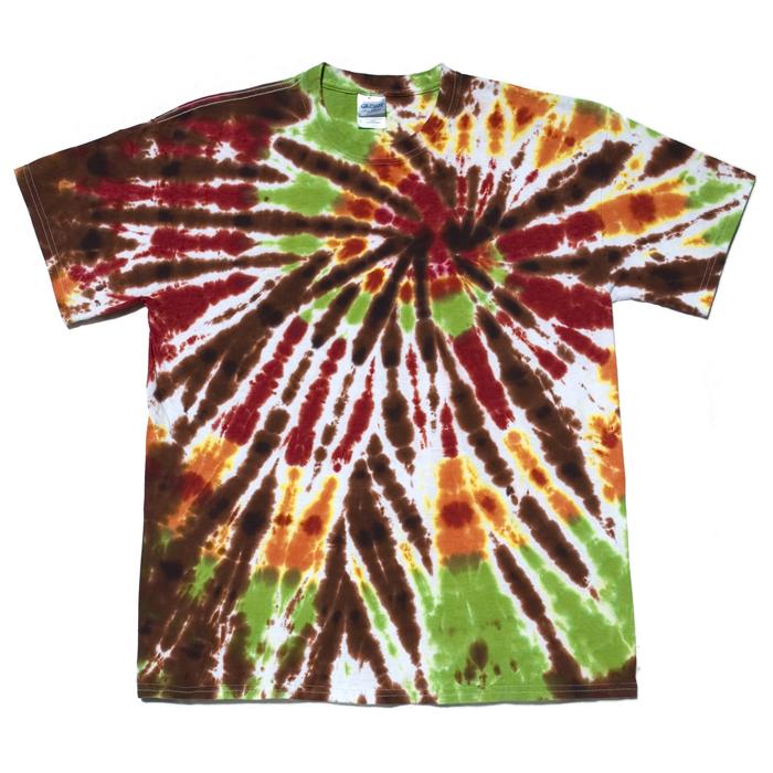 chocolate orange lime spiral tie dye t shirt l dark star dye works. Black Bedroom Furniture Sets. Home Design Ideas